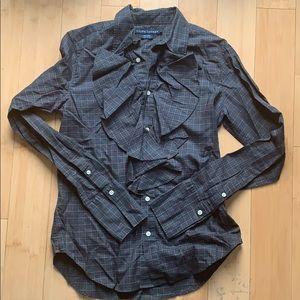 Ralph Lauren Ruffle front button down shirt